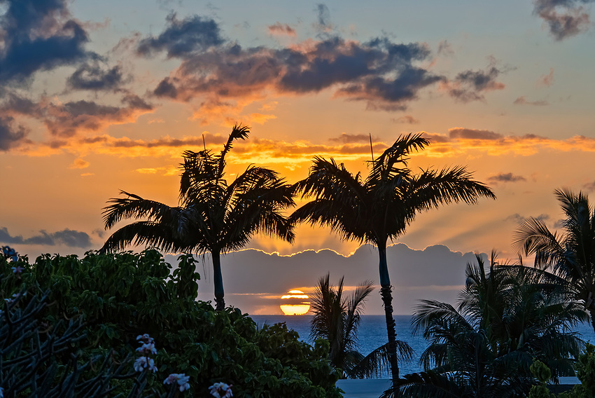 A sunset seen from a condo in south Kihei, Maui