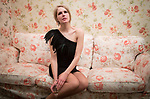 Eva Udayeva, 25, a frequenter visitor is pictured in a private room of Moscow Marusya, women club. Moscow. Russia. 2014