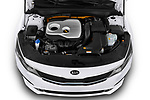 Car stock 2019 KIA Optima Sense  5 Door Wagon engine high angle detail view