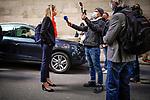 Delphine Bachmann, candidate au Conseil d'Etat, le jour de l'élection 28 mars 2021. Genève.
