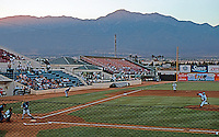 Ballparks: Rancho Cucamonga Epicenter. Panorama of field 1. Note terrace and table area back of third base.