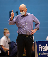 Len Busch Head Coach of Sevenoaks Suns during the WBBL Championship match between Sevenoaks Suns and Newcastle Eagles at Surrey Sports Park, Guildford, England on 20 March 2021. Photo by Liam McAvoy