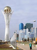 The main boulevard in Astana, the capitol of Kazakstan.<br /> <br /> PHOTO BY RICHARD JONES/SINOPIX
