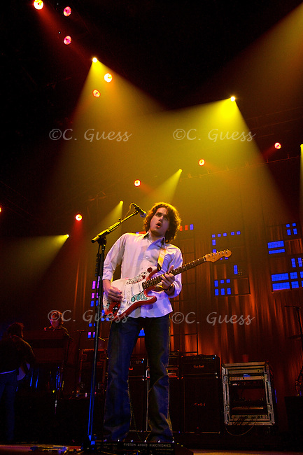 John Mayer plays before a Valentine's Day crowd at the Alliant Energy Center in Madison, WIs.