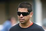 20 June 2009: Assistant trainer to John Sadler, Larry Benavidez at Hollywood Park in Inglewood, CA