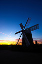 08/02/15<br /> <br /> A cold morning made for spectacular aircraft contrails leaving 'windmills in the sky' at dawn this morning over Heage Windmill near Belper, Derbyshire.<br /> <br /> <br /> All Rights Reserved - F Stop Press.  www.fstoppress.com. Tel: +44 (0)1335 418629 +44(0)7765 242650
