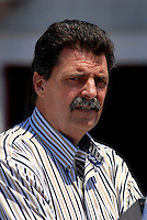 Apr 28, 2006; Talladega, AL, USA; Nascar president Mike Helton in the garage area during practice for the Aarons 499 at Talladega Superspeedway. Mandatory Credit: Mark J. Rebilas-US PRESSWIRE Copyright © 2006 Mark J. Rebilas..