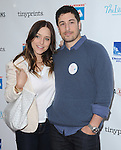 Jason Biggs and  Jennifer Mollen<br />  attends The Milk + Bookies Story Time Celebration held at The Skirball Center in Los Angeles, California on April 27,2014                                                                               © 2014 Hollywood Press Agency