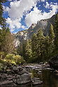 September 2014 / Yosemite National Park landscapes /  Looking down the Merced River toward Cathedral Spires / Photos by Bob Laramie