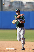 Michigan State Spartans Justin Scanlon #13 during a game vs the Akron Zips at Chain of Lakes Park in Winter Haven, Florida;  March 12, 2011.  Michigan State defeated Akron 5-1.  Photo By Mike Janes/Four Seam Images