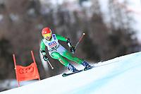 18th February 2021; Cortina d'Ampezzo, Italy;  FIS Alpine World Ski Championships 2021 Cortina  Women's Giant Slalom, Forough Abbasi (IRI)