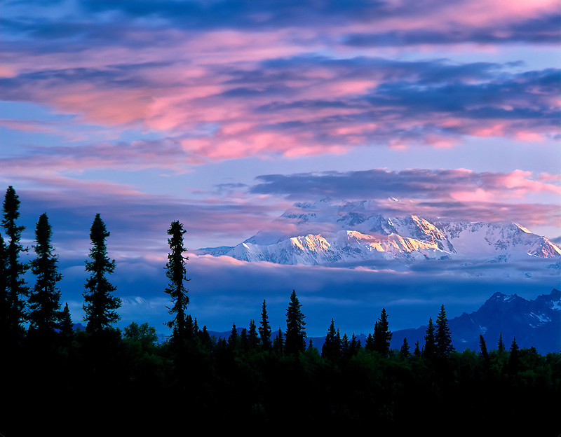 Sunrise on Mt. McKinley, Alaska.