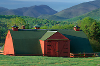 Barn on dairy farm<br /> Heart Lake Road,  Mount Marcy<br /> Adirondack Park<br /> Adirondack Mountains, New York