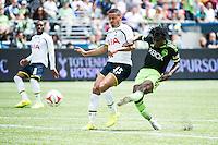 Seattle, Washington - July 19, 2014: Seattle Sounders FC tie England's Tottenham Hotspur 3-3 in an international friendly match at CenturyLink Field.
