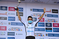 YOPAL - COLOMBIA, 16-04-2021. Oscar Sevilla ganador del prólogo de la Vuelta a Colombia 2021 que se corrió por las calles de la ciudad de Yopal, Casanare hoy 16 de abril de 2021. La carrera cuenta con el prólogo y 9 etapas con un recorrido total de  1.190,2 Kms y pasará por 7 departamentos. / Oscar Sevilla winner of the prologue of the Vuelta a Colombia 2021 that ran through the streets of the city of Yopal, Casanares today April 16, 2021. The race has the prologue and 9 stages with a total route of 1,190.2 Kms and will pass through 7 departments. Photo: VizzorImage / Fedeciclismo / CONT