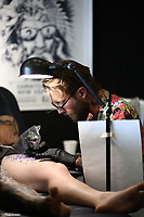 during the Annual Christchurch International Tattoo Expo on January 27, 2019 in Christchurch, New Zealand. . (Photo by Dianne Manson)
