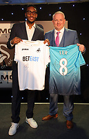 Pictured L-R: Leroy Fer with his sponsor Wednesday 18 May 2017<br />