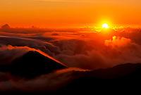 Sunrise at 9,745 feet in Haleakala National Park, Maui.