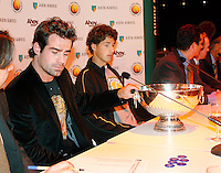17-2-07,Netherlands, Roterdam, Tennis, ABNAMROWTT, Draw with Raemon Sluiter and Robin Haase