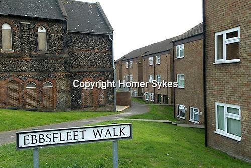 Ebbsfleet Valley Kent UK. Ebbsfleet Walk in Northfleet, an area in need of regeneration.