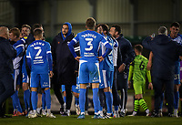 Barrow players at full time during the Sky Bet League 2 match between Forest Green Rovers and Barrow at The New Lawn, Nailsworth on Tuesday 27th April 2021. (Credit: Prime Media Images I MI News)