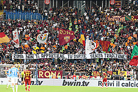 26th September 2021;  Stadio Olimpico, Rome, Italy; Italian Serie A football, SS Lazio versus AS Roma; Roma's supporters