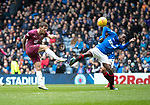 Rangers v St Johnstone…16.02.19…   Ibrox    SPFL<br />Matty Kennedy volleys over the bar<br />Picture by Graeme Hart. <br />Copyright Perthshire Picture Agency<br />Tel: 01738 623350  Mobile: 07990 594431