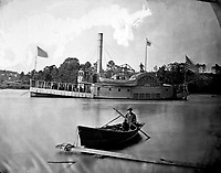 Gunboat Commodore Barney.  Mathew Brady Collection.  (Army)<br /> Exact Date Shot Unknown<br /> NARA FILE #:  111-B-182<br /> WAR & CONFLICT BOOK #:  194