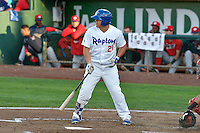 Nick Yarnall (21) of the Ogden Raptors at bat against the Orem Owlz in Pioneer League action at Lindquist Field on September 9, 2016 in Ogden, Utah. This was Game 1 of the Southern Division playoff. Orem defeated Ogden 6-5. (Stephen Smith/Four Seam Images)