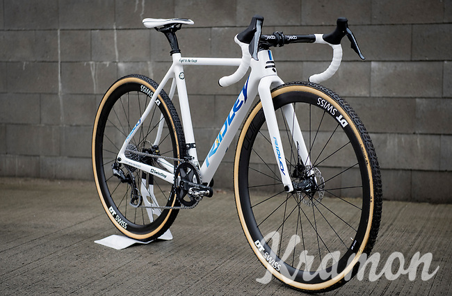 the all new customised Ridley bike of fresh 2020 European cyclocross champion Eli Iserbyt (BEL/Pauwels Sauzen - Bingoal)<br /> <br /> ©kramon