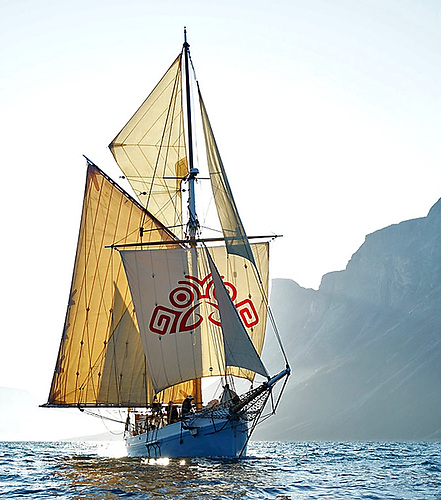 The Limerick ketch Ilen in Greenland in 2019. In 2020, she fitted in a Coast and Cargo cruise in Ireland between two tropical storms and a pandemic…..Photo: Gary Mac Mahon