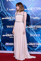 NEW YORK CITY, NY, USA - APRIL 24: Actress Emma Stone wearing Prada arrives at the New York Premiere Of Sony Pictures' 'The Amazing Spider-Man 2' held at Ziegfeld Theater on April 24, 2014 in New York City, New York, United States. (Photo by Jeffery Duran/Celebrity Monitor)