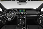 Stock photo of straight dashboard view of a 2019 Lexus RC RC 300h Executive 2 Door Coupe