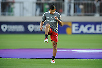WASHINGTON, DC - MAY 13: Edison Flores #10 of D.C. United warming up during a game between Chicago Fire FC and D.C. United at Audi FIeld on May 13, 2021 in Washington, DC.