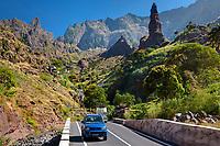Cape Verde, Santo Ant?o, Barlavento islands, Ilhas do Barlavento, Drive with a Rental Car in the Ribeira da Torre near Xoxo