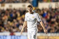 VALENCIA, SPAIN - MARCH 2: Kroos during BBVA League match between VLevante U.D. and R. Madrid at Ciudad de Valencia Stadium on March 2, 2015 in Valencia, Spain