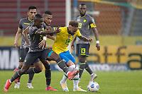 4th June 2021; Beira-Rio Stadium, Porto Alegre, Brazil; World Cup 2022 qualifiers; Brazil versus Ecuador; Neymar of Brazil gets past Alan Franco of Ecuador