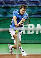 18-2-07,Netherlands, Roterdam, Tennis, ABNAMROWTT, 2nd round qualifiing match, Dennis van Scheppingen