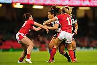 Sene Naoupu of Barbarians is tackled by Kerin Lake of Wales during the International friendly match between Wales and Barbarians at the Principality Stadium in Cardiff, Wales, UK. Saturday 30 November 2019