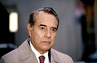 "Washington, DC. USA  1993<br /> Senator Robert Dole (R-KS) speaking to reporters outside the ABC studios after appearing on the Sunday morning talks ""This Week"" <br /> CAP/MPI/MRN<br /> ©MRNJ/MPI/Capital Pictures"