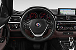 Car pictures of steering wheel view of a 2018 Alpina B3 S Touring Base 5 Door Wagon