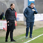 Partick Thistle v St Johnstone…28.10.17…  Firhill…  SPFL<br />Tommy Wright and SAlan Archibald patrol the touchline<br />Picture by Graeme Hart. <br />Copyright Perthshire Picture Agency<br />Tel: 01738 623350  Mobile: 07990 594431