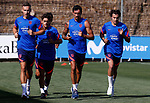 Atletico de Madrid's players with Stefan Savic during training session. July 10,2021.(ALTERPHOTOS/Atletico de Madrid/Pool)