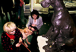'CRUFTS', A SHAR-PAI PUPPY IS WORRIED BY THE STATUE OF A GREAT DANE., 1991
