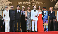 CANNES, FRANCE. July 17, 2021: Jessica Hausner, Kleber Mendonca Filho, Song Kang-Ho, Melanie Laurent, Mati Diop, Tahar Rahim, Maggie Gyllenhaal, Jury president and Director Spike Lee, Mylene Farmer & French minister of culture Roselyne Bachelot at the Closing Gala & Awards Ceremony, and From Africa With Love Premiere at the 74th Festival de Cannes.<br /> Picture: Paul Smith / Featureflash