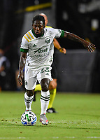 LAKE BUENA VISTA, FL - AUGUST 01: Yimmi Chará #23 of the Portland Timbers runs with the ball during a game between Portland Timbers and New York City FC at ESPN Wide World of Sports on August 01, 2020 in Lake Buena Vista, Florida.