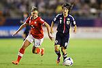(L to R) Anja Thuerig (SUI), Yoko Tanaka (JPN), .AUGUST 26, 2012 - Football / Soccer : .FIFA U-20 Women's World Cup Japan 2012, Group A .match between Japan 4-0 Switzerland .at National Stadium, Tokyo, Japan. .(Photo by Daiju Kitamura/AFLO SPORT)