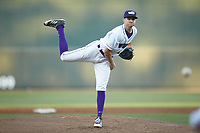 Winston-Salem Dash starting pitcher Jimmy Lambert (12) delivers a pitch to the plate against the Salem Red Sox at BB&T Ballpark on April 20, 2018 in Winston-Salem, North Carolina.  The Red Sox defeated the Dash 10-3.  (Brian Westerholt/Four Seam Images)