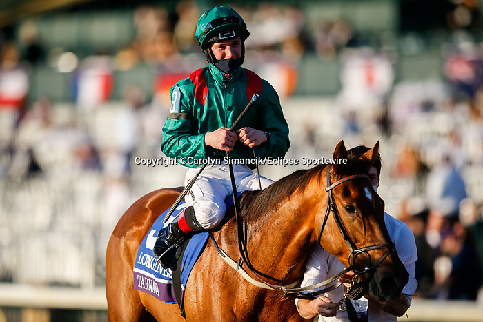 November 7, 2020 : Tarnawa, ridden by Colin Keane, wins the Longines Turf on Breeders' Cup Championship Saturday at Keeneland Race Course in Lexington, Kentucky on November 7, 2020. Carolyn Simancik/Breeders' Cup/Eclipse Sportswire/CSM