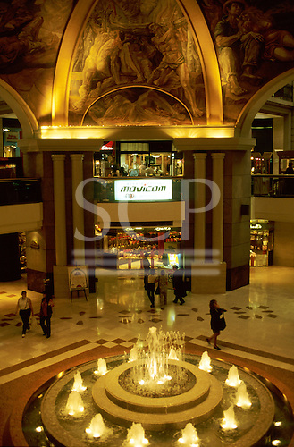 Buenos Aires, Argentina. Galerias Pacifico shopping centre.
